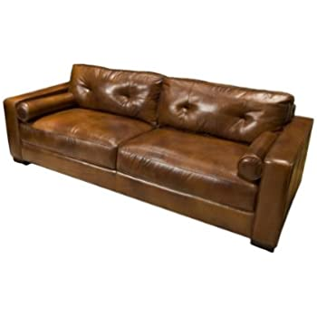 elements soho top grain leather sofa rustic leather