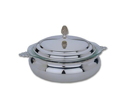 Reed & Barton Silver-plated 3-Quart Round Covered Casserole Dish