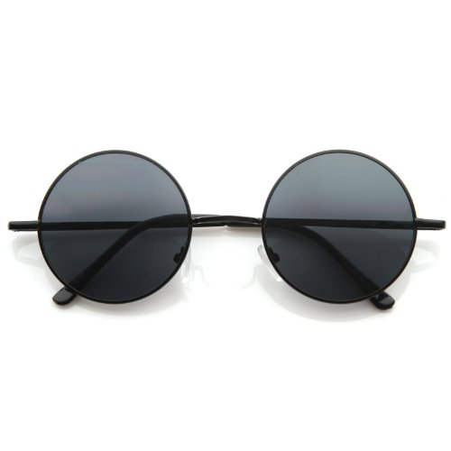 MLC Eyewear Retro Vintage Round Sunglasses - Circle Sunglasses Black