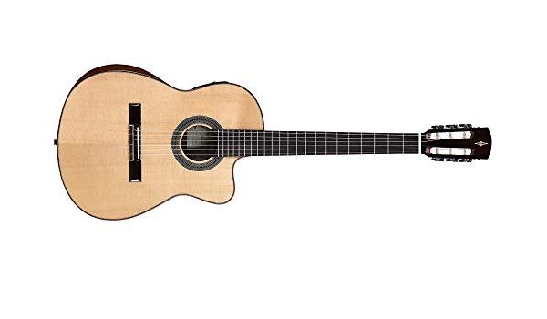 Alvarez CC7HCEAR guitarra clásica Concert híbrida hombro ...