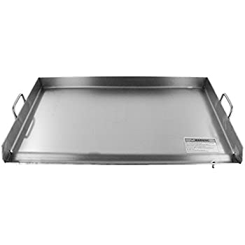 Bioexcel Stainless Steel Plancha - all Purpose griddle for Taco Cart, BBQ grill 15