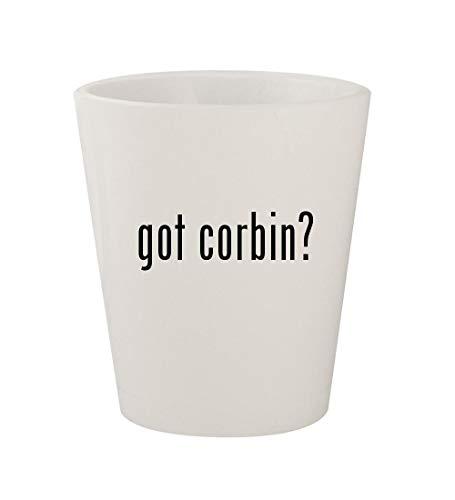 got corbin? - Ceramic White 1.5oz Shot Glass