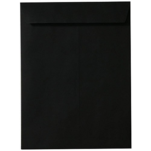 "JAM Paper 9"" x 12"" Open End Catalog Envelopes - Black - 100/pack"