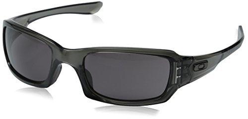 Oakley Fives Squared Sunglasses Grey Smoke / Warm Grey & Carekit - Used Sunglasses Oakley