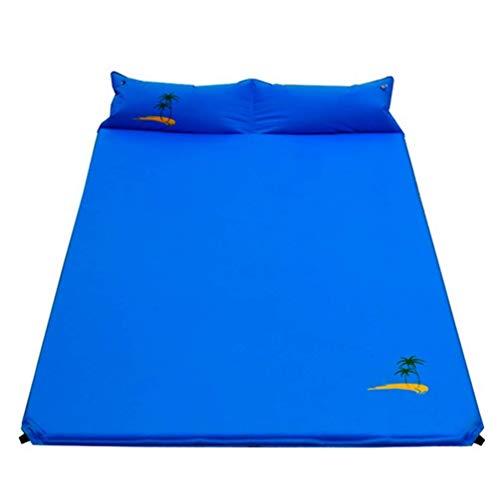HW Colchón Inflable, Esterilla De Camping Auto-Hinchable, Dormir De Acampada con Almohada Impermeable, Resistente A La...