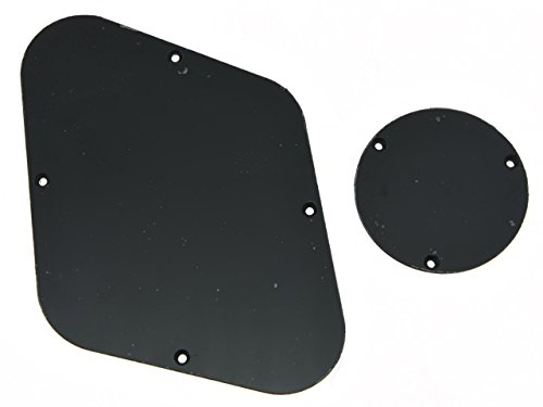 KAISH Solid Black 1 Ply LP Rear Control Plate Switch Plate Cavity Cover For Epiphone Les Paul