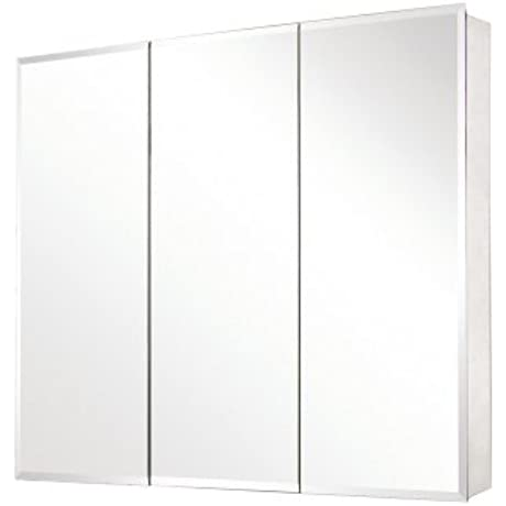 Pegasus SP4589 31 Inch By 36 Inch Tri View Beveled Mirror Medicine Cabinet Clear