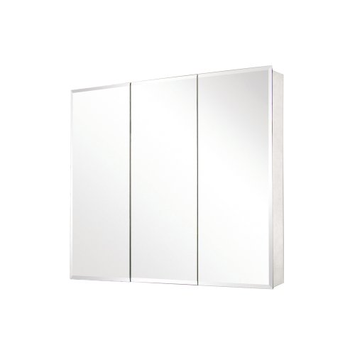 Pegasus SP4589 31-Inch by 36-Inch Tri-View Beveled Mirror Medicine Cabinet, -