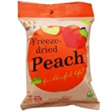 Wel-B Freeze-dried Peach, Freeze-dried Fruit Snack Unsweetened and 0% Fat, Real Healthy Snack 14g.(pack6)