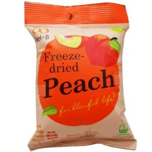 Wel-B Freeze-dried Peach, Freeze-dried Fruit Snack Unsweetened and 0% Fat, Real Healthy Snack 14g.(pack6) by Pumkinhealthysnacks