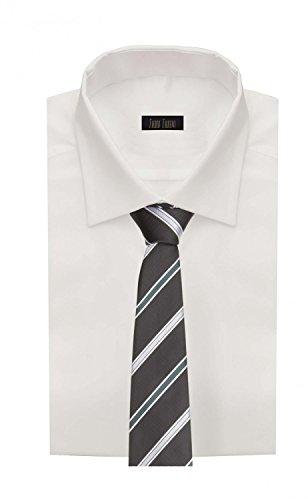 Cravate de Fabio Farini à rayures en noir vert gris