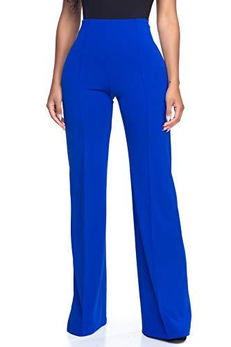 Women's Junior Plus J2 Love High Waist Bell Bottom Flare Pants, 1X, Royal Blue