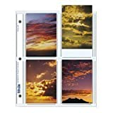 "Print File Archival Photo Pages Holds Eight 3.5"" x 5"" Prints, Pack of 25"