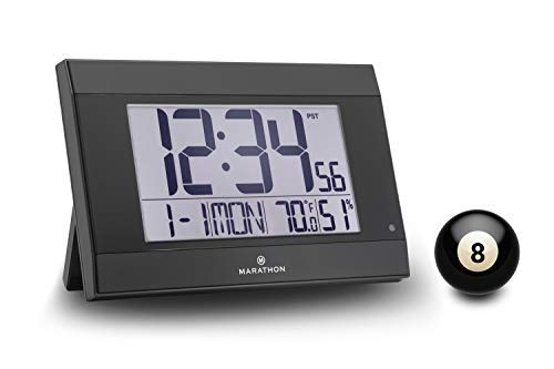 Marathon with Feature, and Big 2 Inch Digits. Large C Cell Batteries Color-Black. SKU-CL030052BK