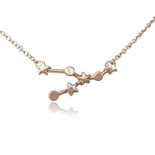 Cos  Tm  Zodiac Constellation Sign Symbol Pendant Necklace  Taurus Rose Gold