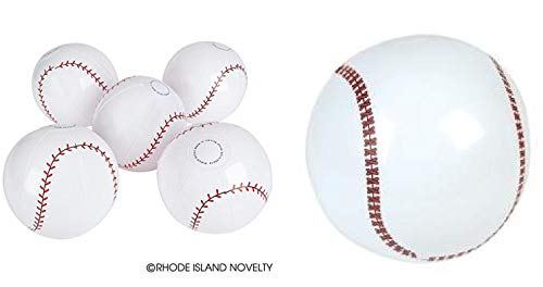 - Set of 6 Inflatable Baseballs (16