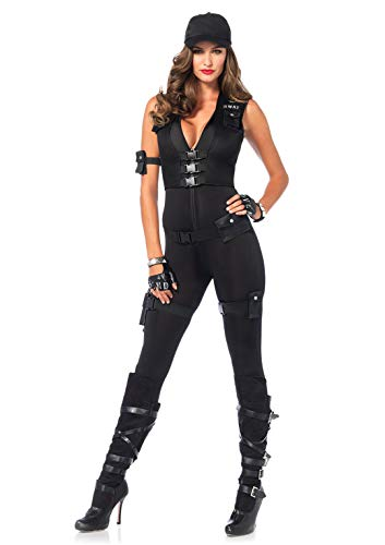 Leg Avenue Women's Deluxe Swat Commander, black, ()