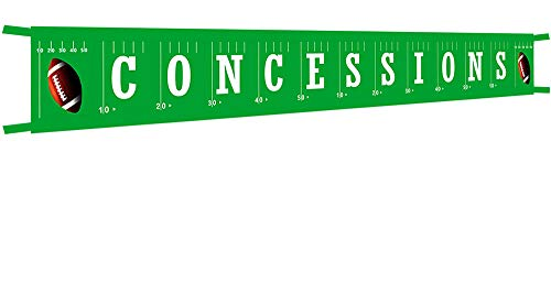 Large Football Concessions Banner - Football Happy Birthday Bunting Banner - Football theme party banner - Football Baby Shower - Sports Party -