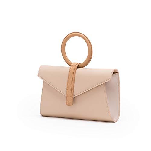 OUSHINA Niche Design Bag New Portable Ring Bag Retro Contrast Color Envelope Bag Messenger Bag (Color : B, Size : 26515cm) ()