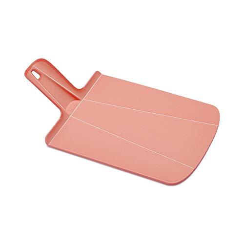 Joseph Joseph 60158 Chop2Pot Foldable Plastic Cutting Board 15 x 8.75 Non-Slip Feet 4-inch Handle Dishwasher Safe, Small, Soft Pink