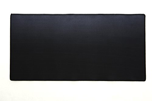 Watson Desk Mat & Smooth Mouse Pad, 24 in X 12 in, Midnight Black - High Quality Perfect for Laptops, Desktops, Keyboards, Mouse - Protects Desk (Black)
