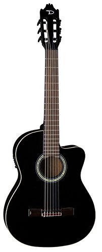 Dean Guitars 6 String Dean Espana Full Size CAW Acoustic-Electric Guitar-Classic Black (CAE CBK)