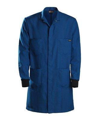 Nomex Lab Coats (Workrite Uniform 357NX45RBMD 0R Flame-Resistant Lab Coat with Knit Cuffs, Medium Size, 4.5 oz. Nomex IIIA Fabric, Royal Blue)