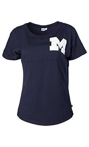 - NCAA Michigan Wolverines Callie Women's Short Sleeve Jersey Tee, Large, Navy