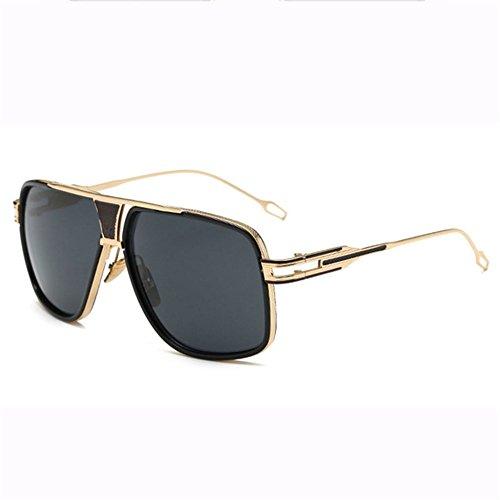 G Gafas Gafas De Prueba Sol Ojos Cara Grande Deportes Caja Metal De Viento Sol A Protección Hombres Pareja Gafas Redondas Dama Sonriendo Trend Irregulares A Retro De Moda B7xTZEnF