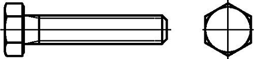 Dresselhaus –  Vite a testa esagonale 8.8 a testa esagonale con filettatura DIN EN ISO 4017 (DIN 933), M 24 X 80 mm, zincate a caldo, 25 pezzi M 24X 80mm 25pezzi Dresselhaus GmbH & Co. KG 0/0222/001/  24