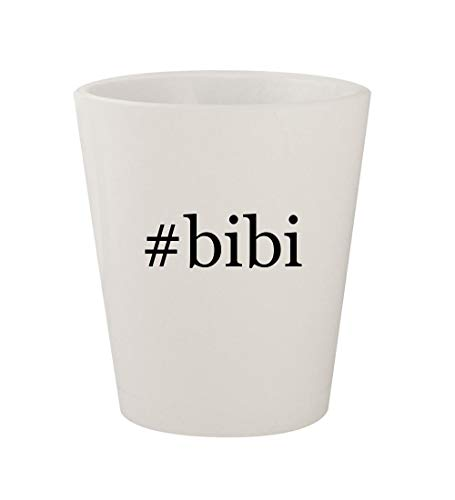 - #bibi - Ceramic White Hashtag 1.5oz Shot Glass