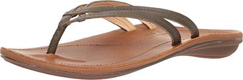 (OLUKAI U'I Sandals - Women's Dusty Olive/Sahara 8 )