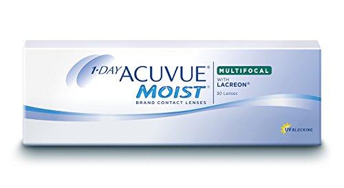 Acuvue 1-Day Moist Multifocal Tageslinsen weich, 30 Stück / BC 8.4 mm / DIA 14.30 / ADD LOW / 1.5 Dioptrien