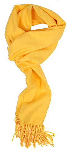 Love Lakeside-Men's Cashmere Feel Winter Solid Color Scarf 00-0 Bright Yellow]()