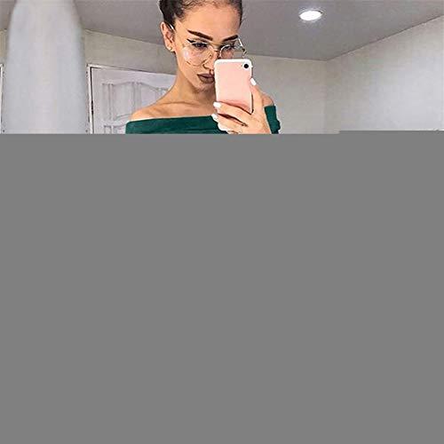 Camoscio Solido Verde Donne Lunga Elegante Donna Moda Manica Spalla Bodycon Kword Vestito Falso Da Off Partito Abito Cocktail Sera Qrsdht