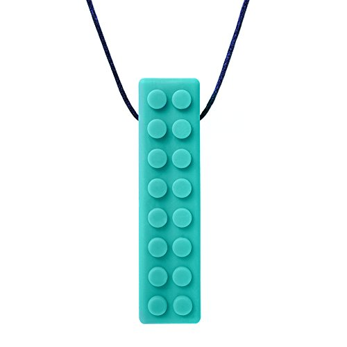 ARKs Brick Stick XT Textured Chew Necklace Made in the USA (Teal, Extra Tough)