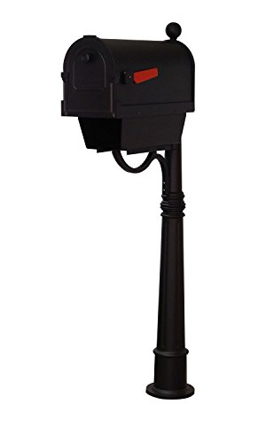 Special Lite Products Company Savannah Curbside Mailbox With Newspaper Tube And Ashland Mailbox Post