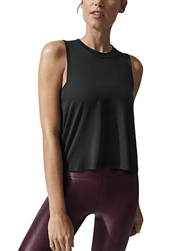 Mippo Women's Muscle Tee Women High Neck Tank Top Sleeveless Workout Yoga Shirts Athletic Tops Soft Comfortable Quick Dry Exercise Training Tanks Hiking Clothes for Women Black S