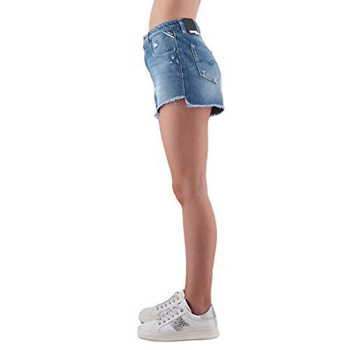 Replay Mujer Para medium Cortos Pantalones 10 Azul Blue rtqOrE