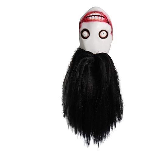 Jeff The Killer Horror Creepy Mask for Carnival Parade Halloween Party Cosplay Black]()