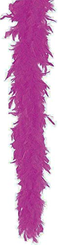 Be Wicked BWCH40 40 Gram Feather Boa, 6Ft Solid Color,color Purple,size OS 40g Chandelle Feather Boa