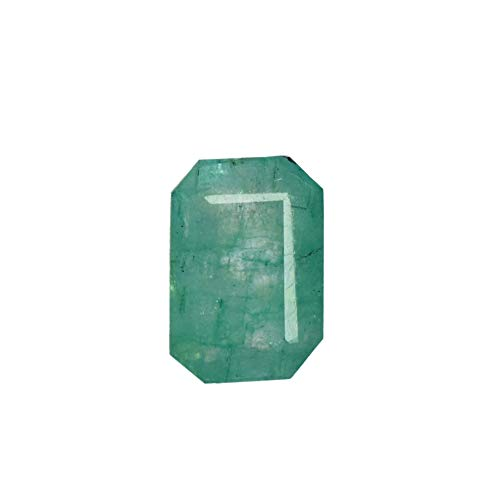 Pendant Size Green Emerald 2.60 Ct Natural Emerald Cut Gemstone with Egl Certified DX-842 ()