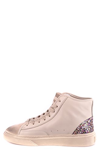 Women's Leather Hi Sneakers Top Hogan Beige MCBI148461O xP0qwT0ZU