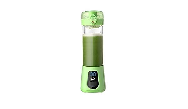 ZZQZZQ Juicer Licuadora Portáti Mini Exprimidor Taza de Jugo de Frutas Smoothie Maker USB Recargable Batidoras Conveniente para los dormitorios de la Oficina en casa,Green: Amazon.es: Deportes y aire libre