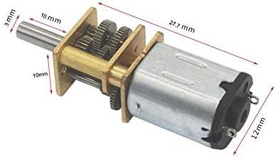 : 6V 3000RPM F-MINGNIAN-TOOL 1pc DC 12V 6V 15RPM for 6000rpm Motor/éducteur 3 mm Arbre Mini m/étal Micro Roue dent/ée Moteur /à Engrenages N20 motor/éducteurs 3000rpm motor/éducteur RPM Speed