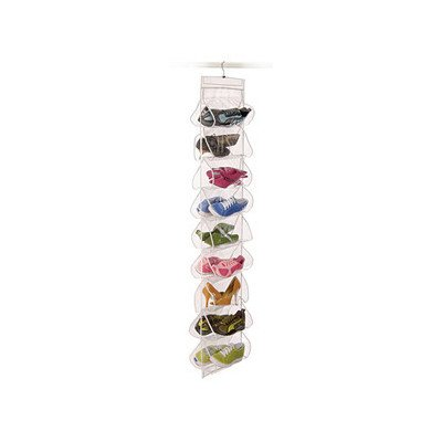 Clear Vinyl Storage 18 Pocket Shoe File with