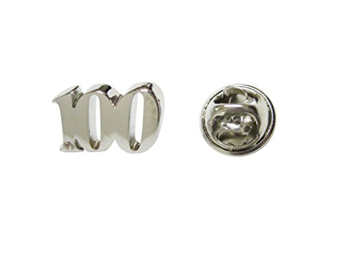 Silver Toned Age 100 Lapel Pin -