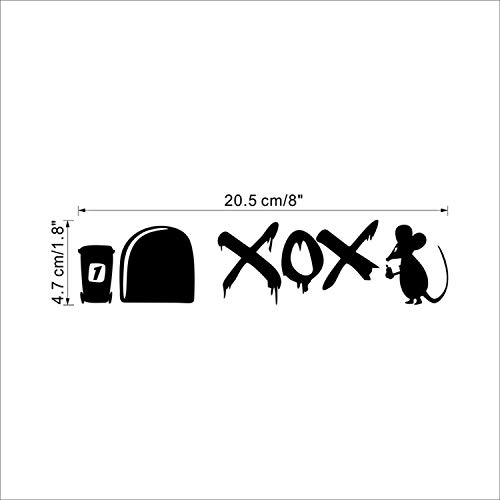 (Funny Love Mouse Hole Wall Stickers for Kids Rooms Wall Decals Vinyl Mural Art Home Decoration Vintage Poster,E 0389)
