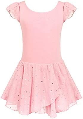 Arshiner Girls Flutter Sleeve Ballet Leotard Dress