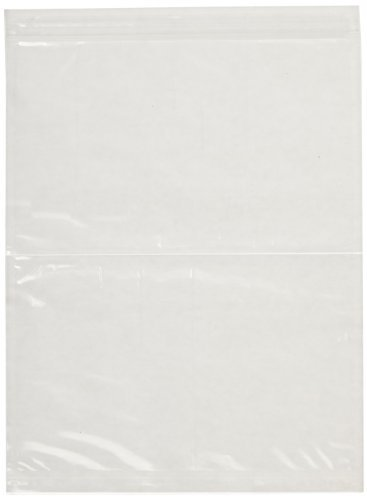3M Non-Printed Zipper Closure Packing List Envelope NPZ-L Clear, 8-1/2 in x 11-1/2 in (Box of 500)